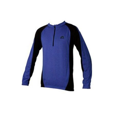 Мъжка Блуза MORE MILE Long Sleeve Mens Cycle Jersey 508509  SM09008BluBlk