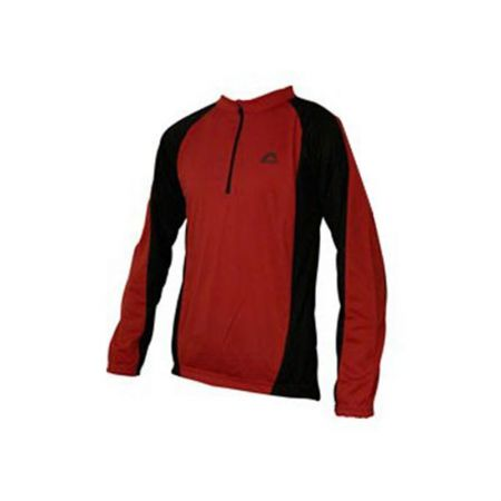Мъжка Блуза MORE MILE Long Sleeve Mens Cycle Jersey 508510 SM09008RedBlk/MM1142