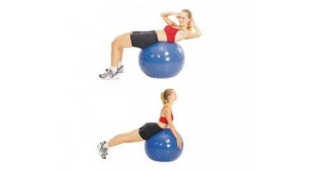 Тренировъчна Масажна Топка MAXIMA Training Swiss Ball 502376 200671-Blue изображение 2