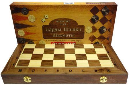 Дървен Шах/Табла MAXIMA Wooden Chess/Backgammon 39 Cm 503018 270772 изображение 3