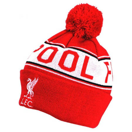 Зимна Шапка LIVERPOOL Text Cuff Knitted Hat