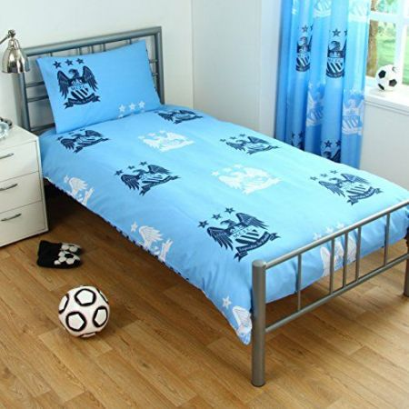 Спално Бельо MANCHESTER CITY Reversible Single Duvet Set BE 504234 11279 изображение 2