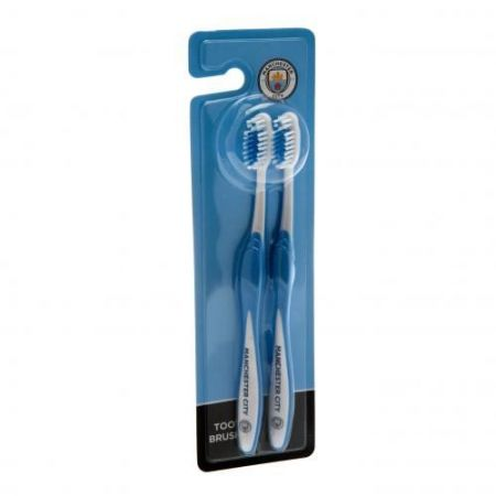 Комплект Четки За Зъби MANCHESTER CITY Twin Pack Toothbrush 512051 a91toamc