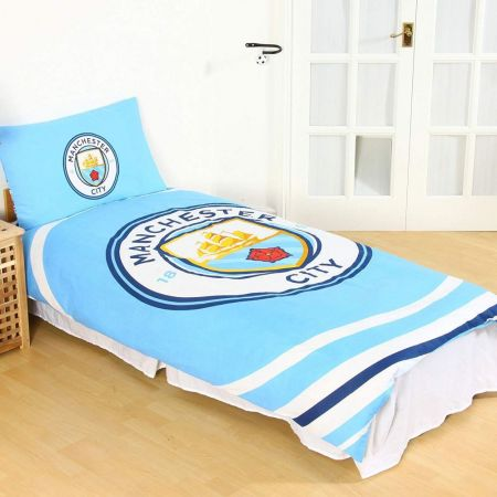 Спално Бельо MANCHESTER CITY Reversible Single Duvet Set PL 513703 h10duvmacpl