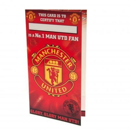 Картичка MANCHESTER UNITED Birthday Card No 1 Fan 503773 z01carmuno