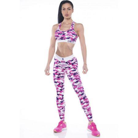Дамски Комплект Клин/Бюстие ZERO FIT Training Set Pink Camo 504487