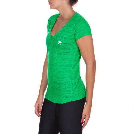 Дамска Тениска VENUM Essential V Neck T-Shirt 514388 2111-GREEN