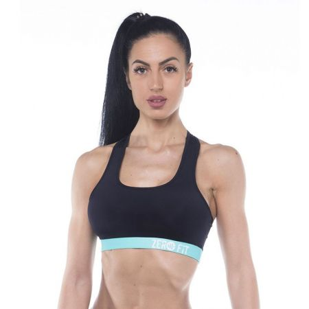 Дамско Бюстие ZERO FIT Sports Bra Black Turquoize  507734