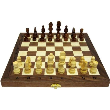 Дървен Шах/Табла MAXIMA Wooden Chess/Backgammon 29.5 Cm
