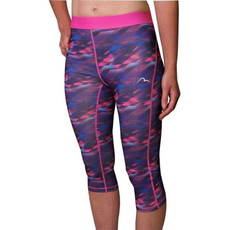 Дамски Клин MORE MILE Go For It Printed Ladies 3/4 Capri Running Tights 508560 MM2561