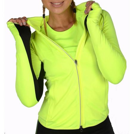 Дамски Суичър MORE MILE More-Tech Thermal Full Zip Ladies Running Top 508686