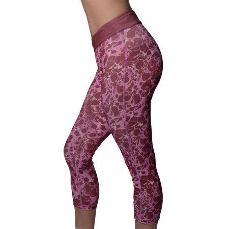 Дамски Клин MORE MILE Printed Ladies Running 3/4 Capri Tights 508733