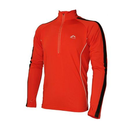Мъжка Блуза MORE MILE Hi-Viz Half-Zip Mens Long Sleeve Running Top 508370 MM2029