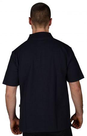 Мъжка Тениска MORE MILE Short Sleeve Mens Polo Shirt 508523  MMSSPOLOMBLK изображение 2