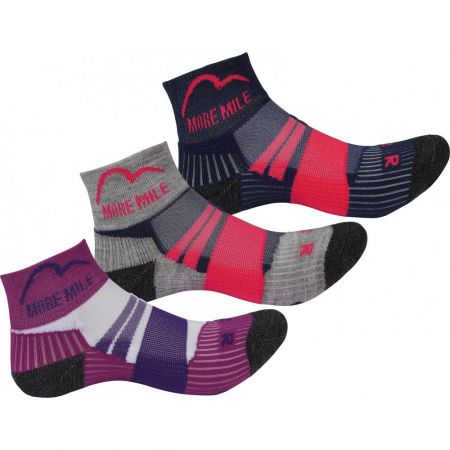 Комплект Дамски Чорапи MORE MILE Endurance Running Junior Socks - 3 Pack