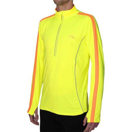 Мъжка Блуза За Бягане MORE MILE Lumino 1/4 Zip Long Sleeve Mens Running Top 508249 MM2420