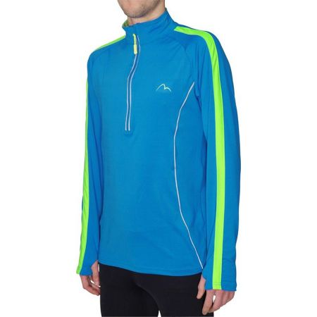 Мъжка Блуза За Бягане MORE MILE Lumino 1/4 Zip Long Sleeve Mens Running Top 508247 MM2421
