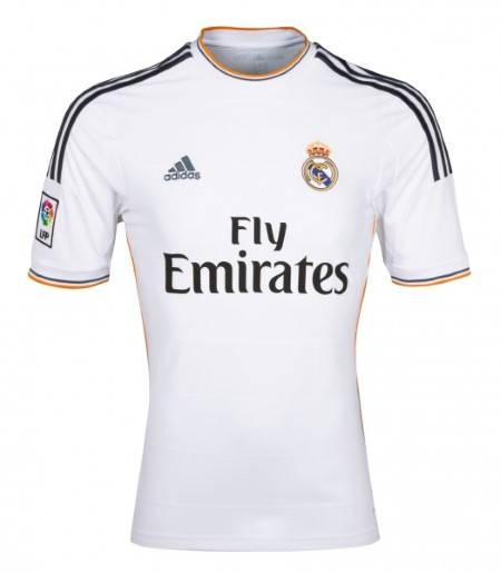 Официална Фланелка Реал Мадрид REAL MADRID Mens Home Shirt 13-14 500847