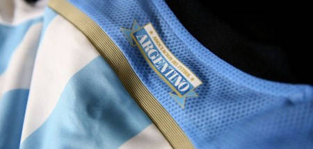 Официална Фланелка Аржентина ARGENTINA 2014 World Cup Home Kit 500977  изображение 4