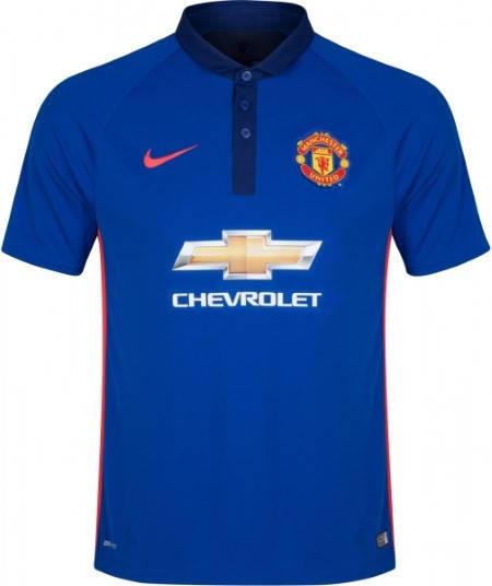 Официална Фланелка Манчестър Юнайтед MANCHESTER UNITED Mens Third Shirt 14-15 501068b
