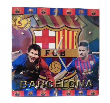 Стенен Часовник BARCELONA Wall Clock Messi and Neymar PKS 500581a