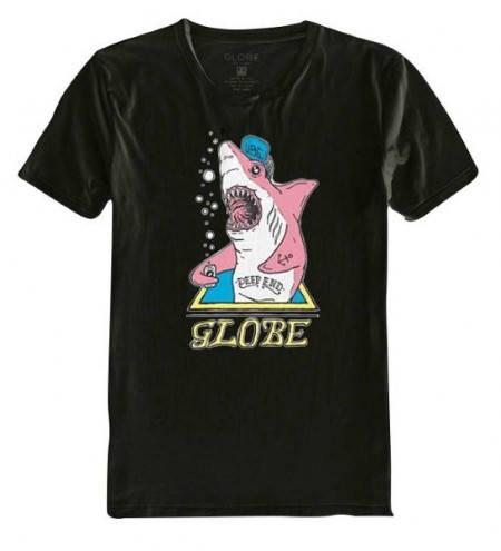 Мъжка Тениска GLOBE Deep End Tee W13 100774 30308700683 - VINT/BLK
