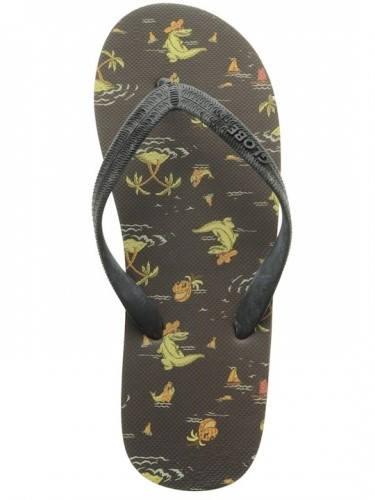 Мъжки Джапанки GLOBE Croc O Clock S13 100566 30300800091 - VINTAGE BLACK изображение 2