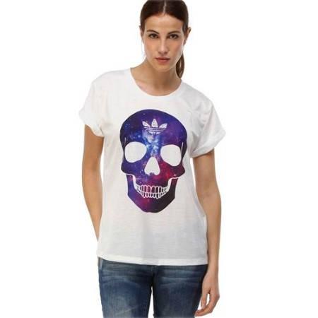 Дамска Тениска ADIDAS Originals Ladies Skull T-Shirt 200604  изображение 3
