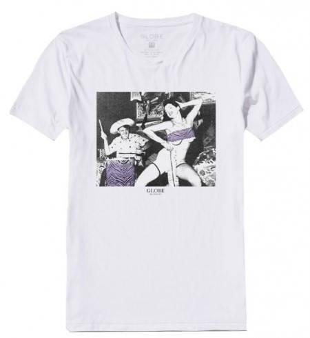 Мъжка Тениска GLOBE Two Wrongs Tee SS14 100761b 30308700706 - WHITE