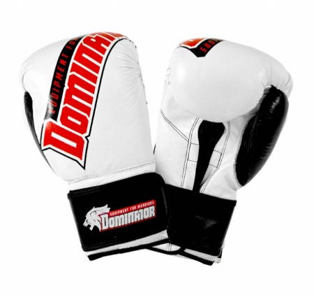 Боксови Ръкавици DOMINATOR Boxing Gloves Logo Print Leather 401983a 15250