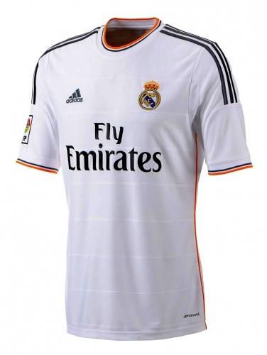 Официална Фланелка Реал Мадрид REAL MADRID Mens Home Shirt 13-14 500847  изображение 2
