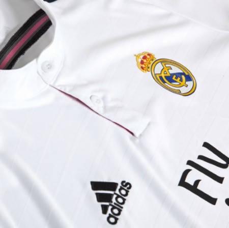 Официална Фланелка Реал Мадрид REAL MADRID Mens Home Shirt 14-15 501071  изображение 6