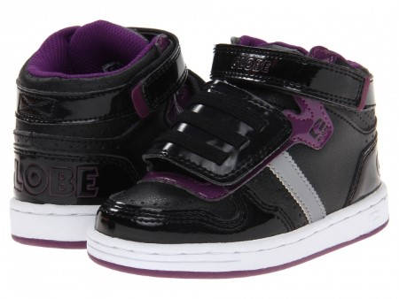 Детски Кецове GLOBE Superfly-Kids Velcro W13 300255 30302400303 - BLACK DARK PURPLE изображение 7