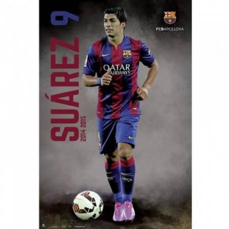 Плакат BARCELONA Poster Poster Suarez 501188 b20posba24