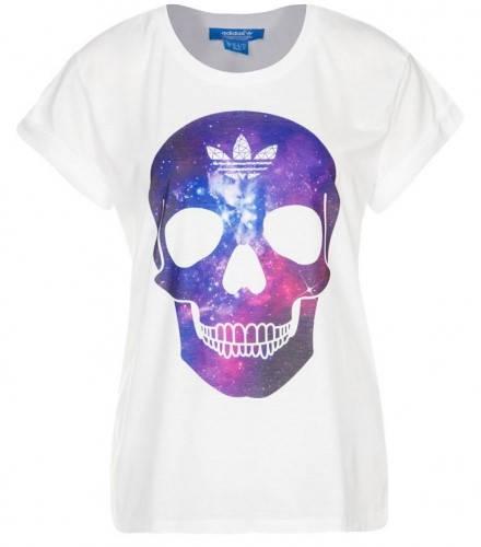 Дамска Тениска ADIDAS Originals Ladies Skull T-Shirt 200604  изображение 2
