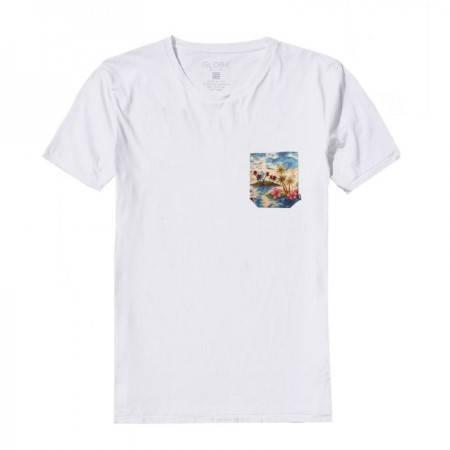 Мъжка Тениска GLOBE Tropical Tee SS14 100762 30308700705-WHITE