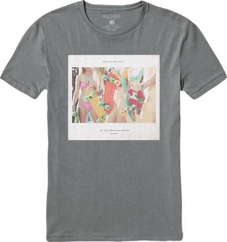 Мъжка Тениска GLOBE Мъжка Тениска GLOBE Sessional Tee SS14 100763a 30308700703 - FROST GREY