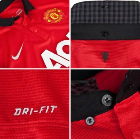 Мъжка Тениска NIKE Manchester United Mens Home Shirt 13/14 100646  изображение 4