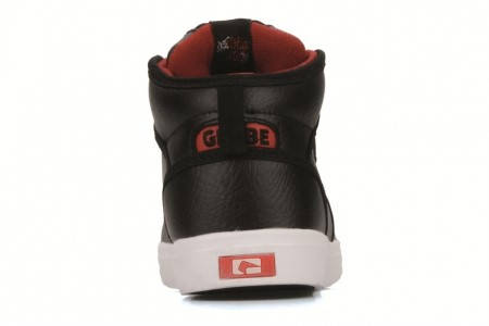 Детски Кецове GLOBE Motley Mid Kids 300105 30302400253 - BLACK/WHITE/DARK RED изображение 4