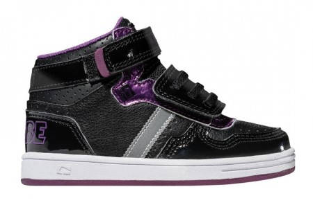 Детски Кецове GLOBE Superfly-Kids Velcro W13 300255 30302400303 - BLACK DARK PURPLE