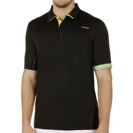 Мъжка Тениска HEAD Performance Polo Shirt Men SS15 101286 811085-BK изображение 2