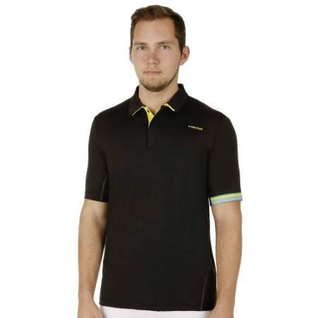 Мъжка Тениска HEAD Performance Polo Shirt Men SS15 101286 811085-BK изображение 4