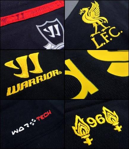 Официална Фланелка Ливърпул LIVERPOOL Warrior Away Shirt 12-13 501253a wstm204 изображение 2