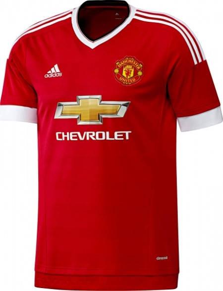 Официална Фланелка Манчестър Юнайтед MANCHESTER UNITED Mens Home Shirt 15-16 501450