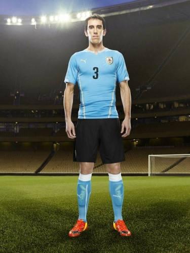 Официална Фланелка Уругвай URUGUAY 2014 World Cup Home Kit 501047  изображение 4