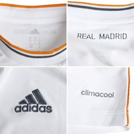 Официална Фланелка Реал Мадрид REAL MADRID Mens Home Shirt 13-14 500847  изображение 5