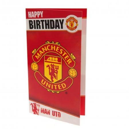 Картичка MANCHESTER UNITED Birthday Card 500739b w10carmu-z01carmu изображение 2