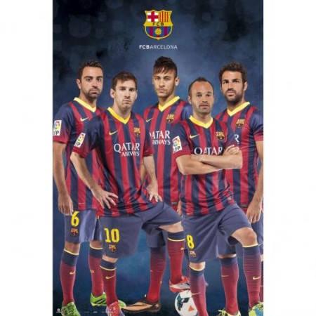 Плакат BARCELONA Poster Players 500033