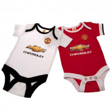 Бебешки Дрехи MANCHESTER UNITED 2 Pack Bodysuit 12-18 mths 501193