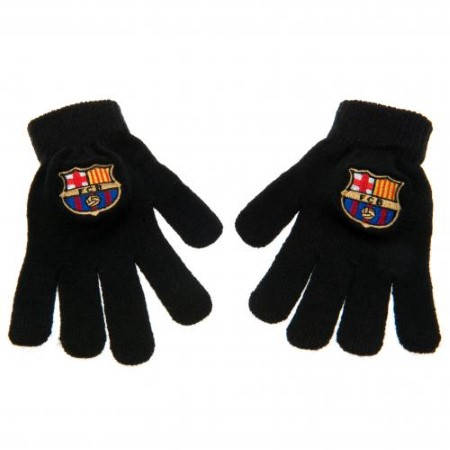 Ръкавици BARCELONA Knitted Gloves BLK 500424a